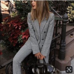 Zara plaid pants with buttons